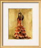 Flamenco Dancer I Print by Caroline Gold