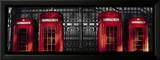 Red Telephone Boxes, London Print by Stephane Rey-Gorrez