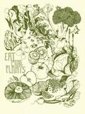 Eat More Plants セリグラフ : ブレインストーム(1983年)