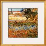 Jardin Fleuri A Arles Art by Vincent van Gogh
