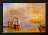 The Fighting Temeraire Poster by J. M. W. Turner