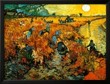 The Red Vineyard at Arles, c.1888 Art by Vincent van Gogh