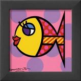 Dittie Fish Art by Romero Britto