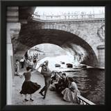 Rock 'n' Roll sur les Quais de Paris Poster by Paul Almasy