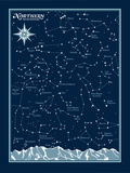 Northern Hemisphere Star Chart S&#233;rigraphie par  Brainstorm