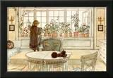 Flowers on the Windowsill Art by Carl Larsson