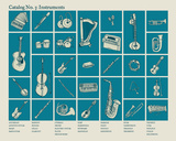 Catalog 3 - Instruments Serigraph by  Brainstorm