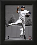 Derek Jeter 2010 Spotlight Action Framed Photographic Print