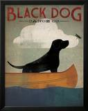 Black Dog Canoe Poster by Ryan Fowler