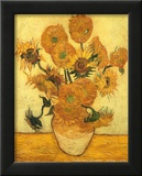 Vase of Fifteen Sunflowers, c.1889 Prints by Vincent van Gogh
