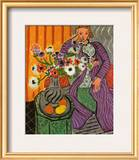 Purple Robe and Anemones 1937 Prints by Henri Matisse
