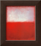 White over Red Print by Mark Rothko