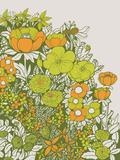 Vintage Floral Serigraph by  Brainstorm