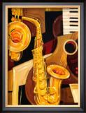 Abstract Sax Posters by Paul Brent