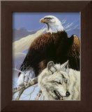 Eagle and Wolf Art by Gary Ampel