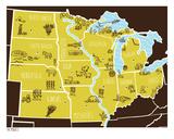 American Atlas - The Midwest Sérigraphie par  Brainstorm
