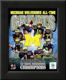 University of Michigan Wolverines All Time Greats Composite Framed Photographic Print
