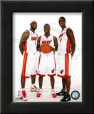 Dwyane Wade, LeBron James, &Chris Bosh 2010 Posed Framed Photographic Print