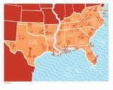 American Atlas - The South Sérigraphie par  Brainstorm