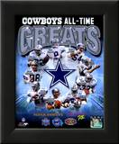 Dallas Cowboys All Time Greats Composite Framed Photographic Print