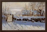 La Pie, Effet de Neige Prints by Claude Monet