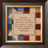 Family Quilts Poster by Karen Tribett