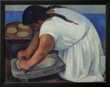 The Grinder, c.1926 Prints by Diego Rivera