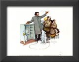 Expert Salesman Prints by Norman Rockwell
