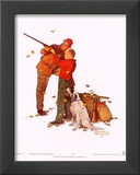 Careful Aim Posters by Norman Rockwell