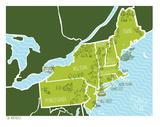 American Atlas - The Northeast Serigraph by  Brainstorm