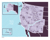 American Atlas - The West Serigraph by  Brainstorm