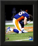 Tim Tebow after the Broncos won their 2011 AFC Wild Card Playoff Game Framed Photographic Print