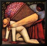 The Flower Carrier Posters by Diego Rivera