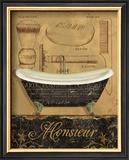 Bain de Monsieur Prints by Daphne Brissonnet