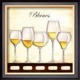 Les Vins Blancs Print by Andrea Laliberte