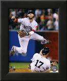 Dustin Pedroia 2011 Action Framed Photographic Print
