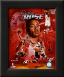 Derrick Rose 2011 Portrait Plus Framed Photographic Print