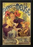 Bieres de la Meuse Art by Alphonse Mucha