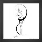 Dancing Silouhette III Prints by Alijan Alijanpour