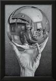 Hand with Globe Posters by M. C. Escher