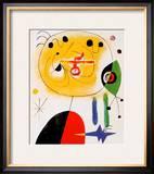 Et Fixe Les Cheveux d'une Etoile Posters by Joan Miró