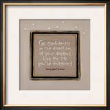 Go Confidently Print by Karen Tribett