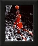 Michael Jordan 1990 Spotlight Action Framed Photographic Print