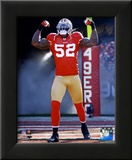 Patrick Willis NFC Divisional Playoff Game Action Framed Photographic Print