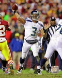Russell Wilson 2012 Playoff Action Photo
