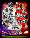 Super Bowl XLVII Match Up Composite Fotografía