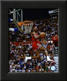 Michael Jordan 1987 Slam Dunk Contest Action Framed Photographic Print