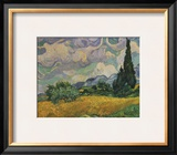 Wheatfield with Cypresses, c.1889 Art by Vincent van Gogh