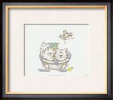 Bathroom Cats IV Art by A. Langston