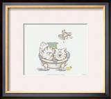 Bathroom Cats IV Art by A. Langston
